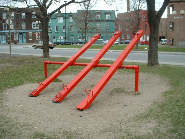 Single Plank Seesaw